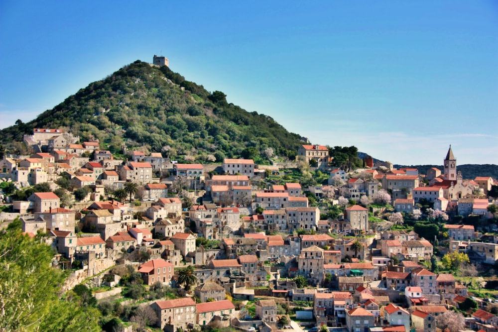 Photograph of the town of Lastovo
