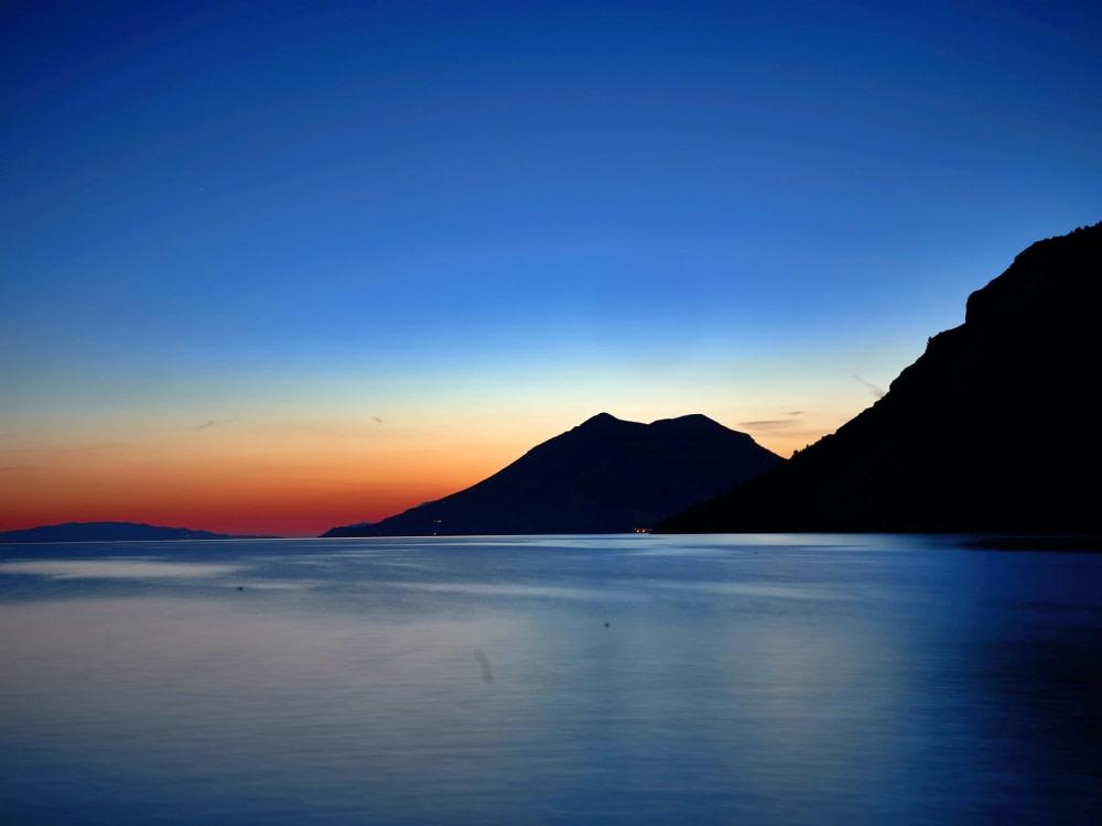 Photograph of a sunset at Peljesac