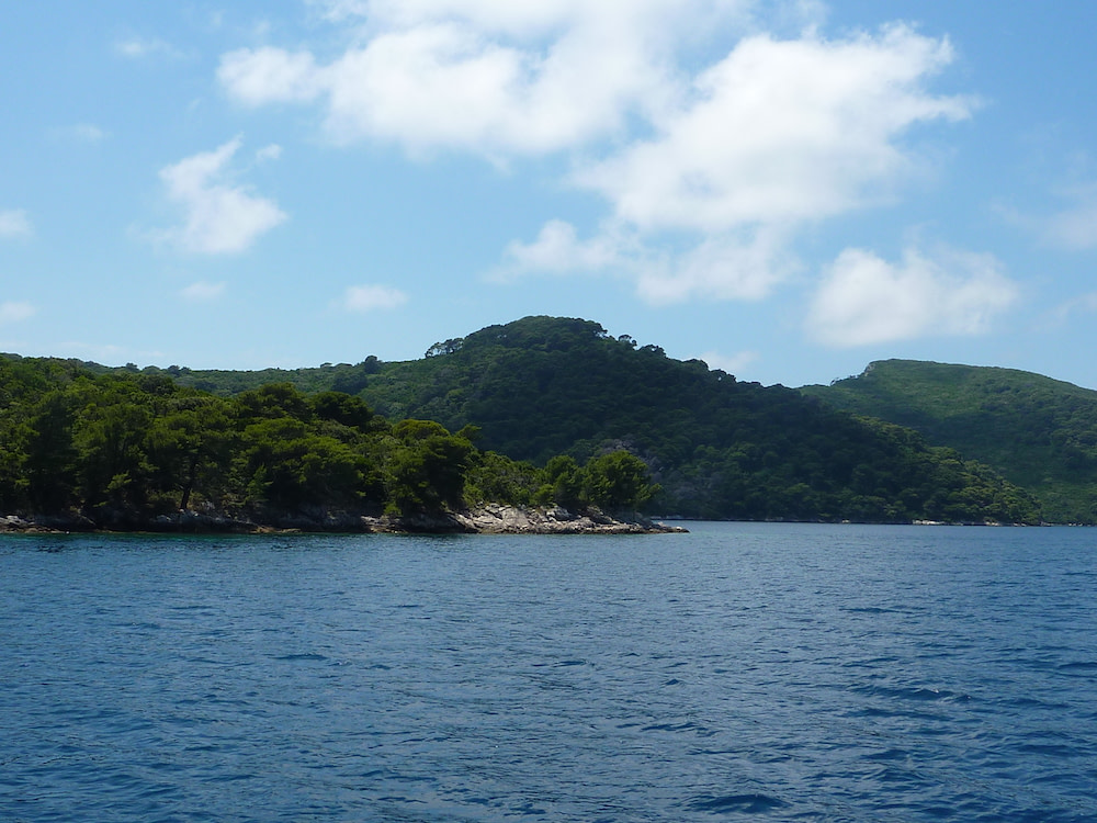 Photograph of the sea surrounding Sipan island