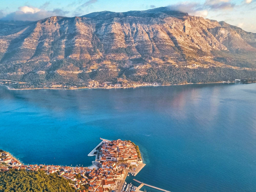 Aerial Photograph of Korcula