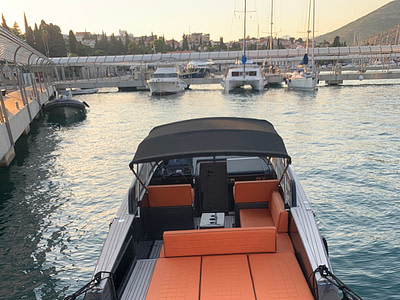 Yacht Vandutch Hermes waiting for guests in the marina Dubrovnik