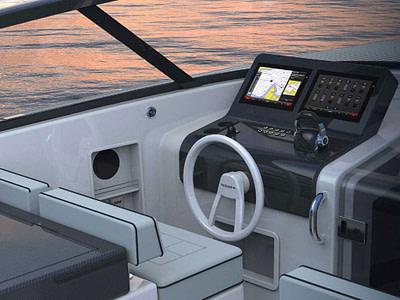 speedboat cockpit with 17