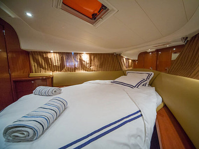 Spacious boat cabin available for overnight charter in Croatia