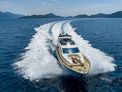 chartered motor yacht FILIPPETTI YACHT F76 on a cruise around Sipan and Jakljan islands