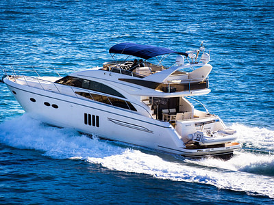Motor yacht with dinghy for charter rent