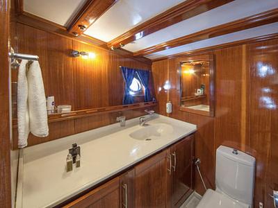 Luxury bathroom onboard a gulet ship