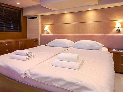 Luxury double cabin onboard motor yacht