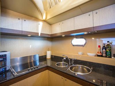 Kitchen Interior onboard a Ferretti 591