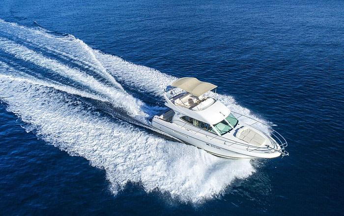 Prestige 36 motor yacht cruising
