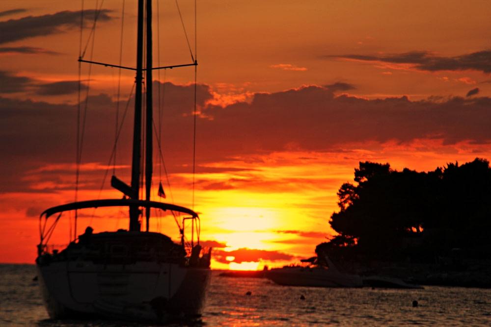Photograph of a Lastovo sunset
