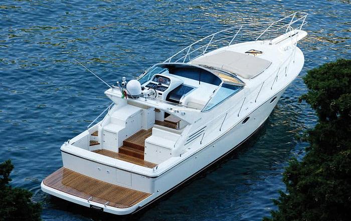 Uniesse 42 modern yacht anchored at Kolocep island bay in Dubrovnik, Croatia